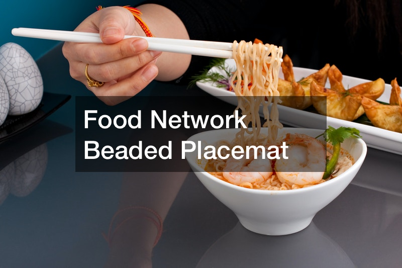 Food Network Beaded Placemat